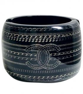 Chanel Chain-Detail Resin Cuff