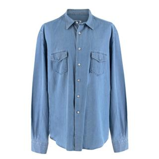 Loro Piana Regular Fit Chambray Shirt