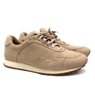 Loro Piana Weekend Walk Cashmere-felt Sneakers