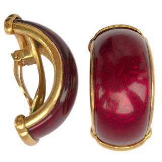 Yves Saint Laurent Vintage Enamel Earrings