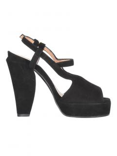 Marni Black Suede Sandals