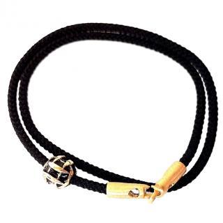 Luis Morais Double Wrap 14ct Gold Bead Bracelet