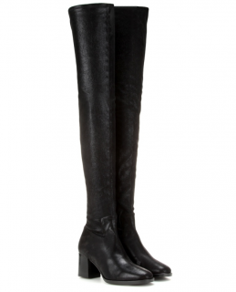 Edun Metallic Stretch Suede Over-the-Knee Boots
