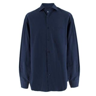 Loro Piana Men's Navy Cotton Shirt