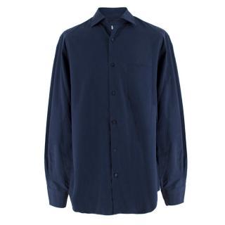 Loro Piana Men's Navy Cotton Shirt