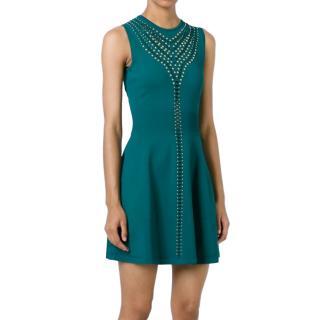 Roberto Cavalli Studded Knit Mini Dress