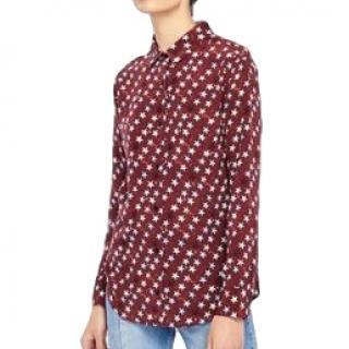 Sandro Star Print Silk Shirt