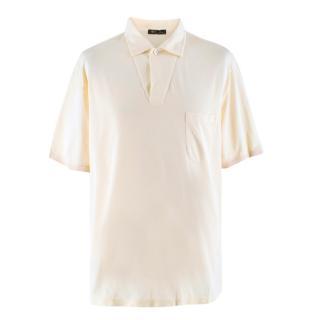 Loro Piana Cream Silk Blend Polo Shirt