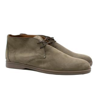 Loro Piana Men's Soft Walk Nubuck Ankle Boots