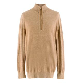 Loro Piana Brown Vicuna Baby Cashmere Sweater