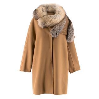 Ermanno Scervino Double-faced Fur Trimmed Coat