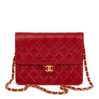 0cb281eee15b Chanel vintage red quilted single flap shoulder bag