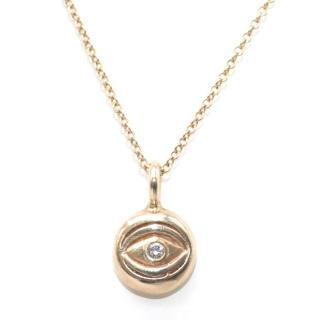 Bespoke 14k Gold Mini Eye Necklace