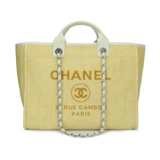 7dc61200875a Chanel Yellow Canvas Deauville Large Tote