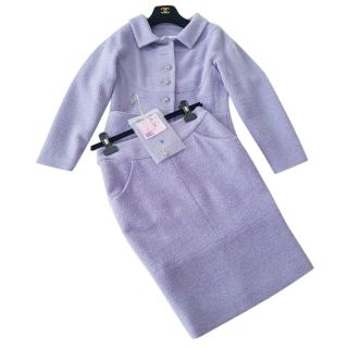 Chanel Lavender Tweed Two-Piece Suit