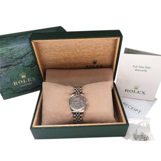 Rolex 26mm Stainless Steel / White Gold & Mother Of Pearl Datejust Watch