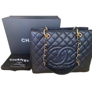 9859c6ec3d60 Chanel Black Caviar Grand Shopping Tote