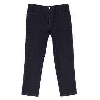 Brioni Dark Blue Straight-leg Denim Jeans
