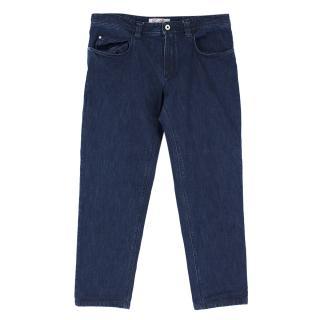 Loro Piana Dark Blue Denim Straight-leg Jeans