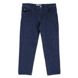 Loro Piana Dark Blue Denim Straight-leg Jeans