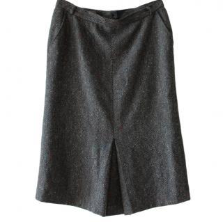 MaxMara Grey Pencil Skirt