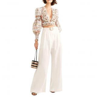 Zimmermann Wide-Leg Linen Trousers