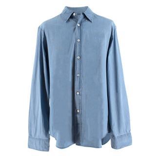 Canali Men's Chambray Cotton Shirt