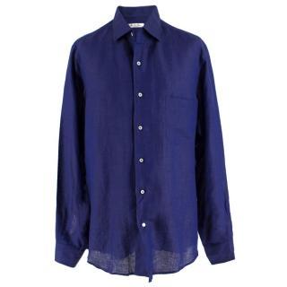 Loro Piana Deep Blue Flax Shirt