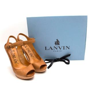 Lanvin 2012 Ete Brown Leather Sandals