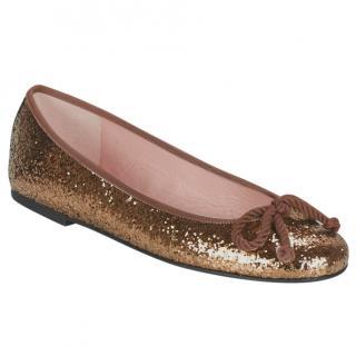 Pretty Ballerinas 'Kylie' in Sparkling Bronze