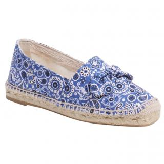 a53c966d8671 Charlotte Olympia blue Bandana espadrilles