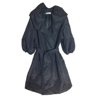 Prada Black silk blend  coat, size 40