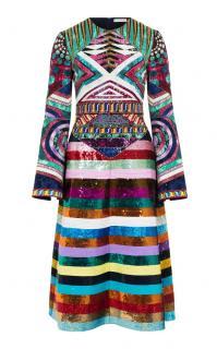 94dbce0f3bb8 Mary Katrantzou Lark Sequin Embroidered Dress