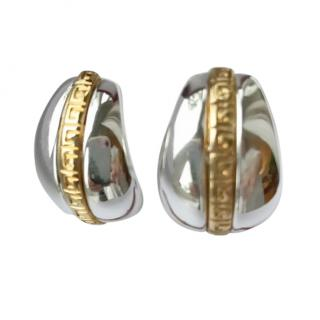 Givenchy VIntage Gold & Silver Tone Earrings