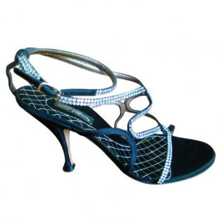 Dolce & Gabbana Jewelled Satin Sandals