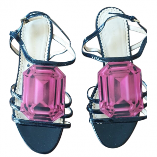Charlotte Olympia Jewel Detail Flat Sandals