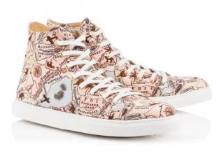 Charlotte Olympia Map Print High Top Sneakers