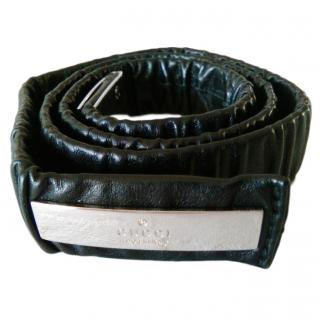 Gucci Black Stretch Leather Belt