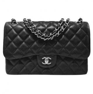 33a16be31d9e Chanel Caviar Leather Jumbo Double Flap Bag