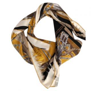 Hermes Silk & Cashmere Lujo Crillo Scarf