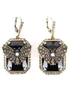 Alexander McQueen butterfly drop earrings