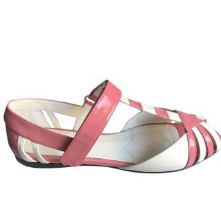 Prada dusky pink flat sandals