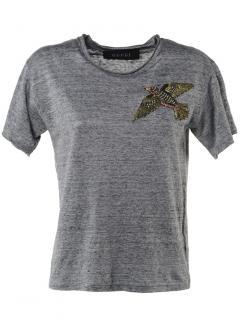 Gucci grey bird embellished t shirt