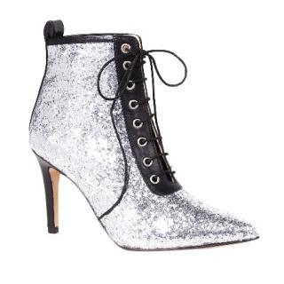 KALDA Metallic Silver Ankle Boots