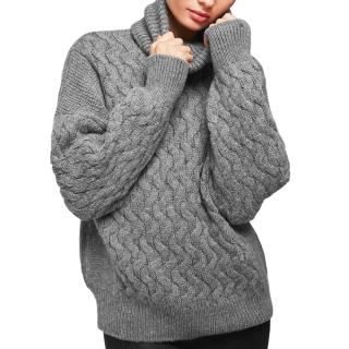 Anine Bing Cable KNit Merino Wool & Baby Alpaca Jumper