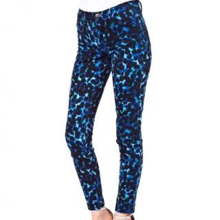 J Brand blue ink blot skinny jeans