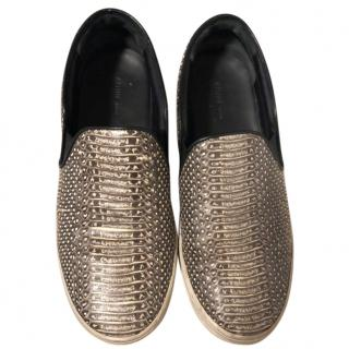 Celine Python effect slip on flats/sneakers