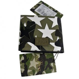 Valentino Star Camouflage Wallet