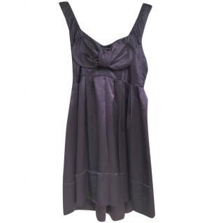 Miu Miu Purple Silk Sleeveless Dress