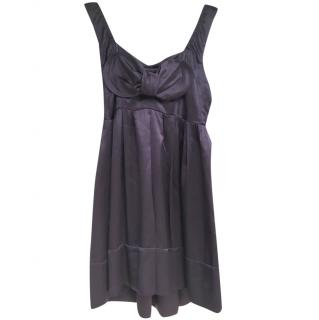 Miu Miu Purple Silk Sleeveless Dress